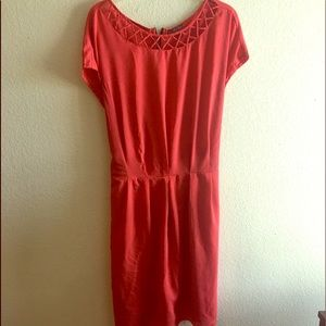 Bebop Plus Size cutout  red dress